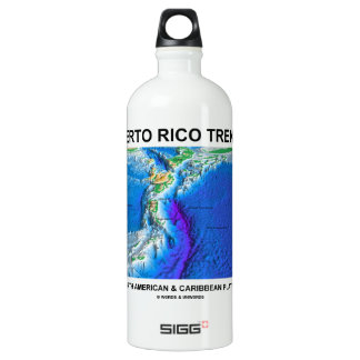 Puerto Rico Trench Where North American Caribbean Aluminum Water Bottle