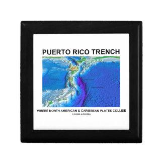 Puerto Rico Trench Where North American Caribbean Jewelry Box
