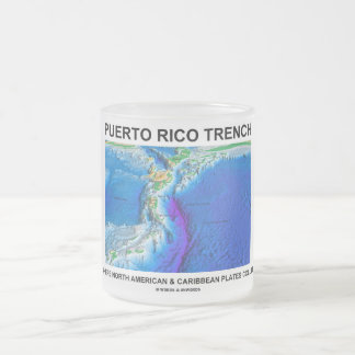 Puerto Rico Trench Where North American Caribbean 10 Oz Frosted Glass Coffee Mug