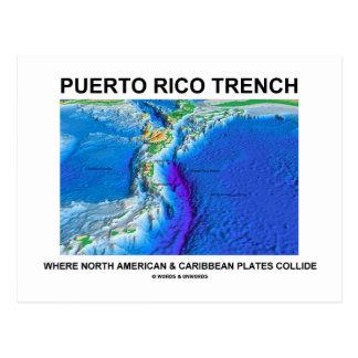 Puerto Rico Trench Where North American Caribbean Postcard