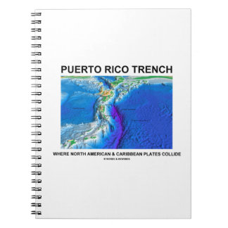 Puerto Rico Trench Where North American Caribbean Spiral Notebooks