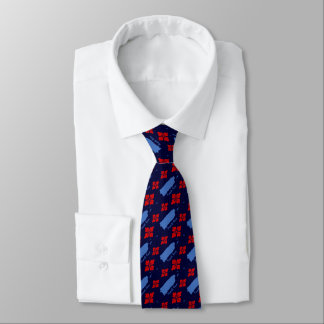 Puerto Rico Tropical Map Double Sided Printing Neck Tie
