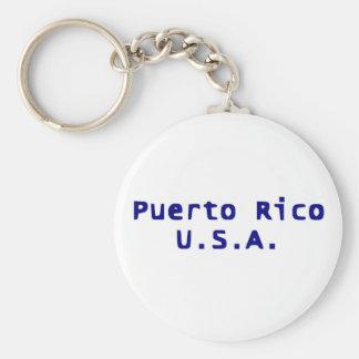 Puerto Rico U.S.A. Keychain