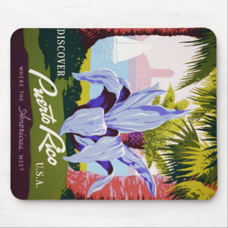 Puerto Rico U.S.A., WPA Tourism and parks poster Mouse Pad