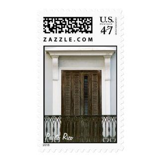 Puerto Rico, ventanas Viejo San Juan Stamp