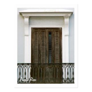 Puerto Rico, ventanas Viejo San Juan Postales