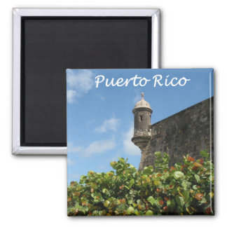 Puerto Rico View 2 Inch Square Magnet