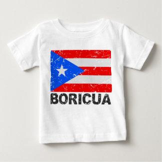 Puerto Rico Vintage Flag Boricua Baby T-Shirt