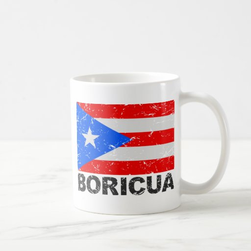 Puerto Rico Vintage Flag Boricua Classic White Coffee Mug
