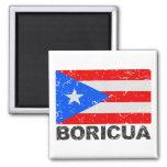 Puerto Rico Vintage Flag Boricua Fridge Magnets