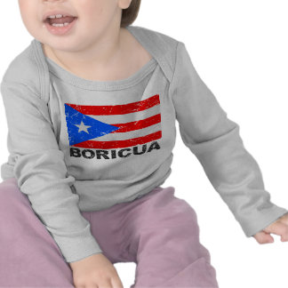 Puerto Rico Vintage Flag Boricua T Shirt