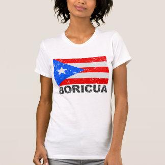 Puerto Rico Vintage Flag Boricua Tee Shirt