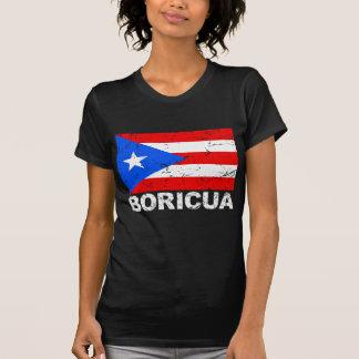Puerto Rico Vintage Flag Boricua Tshirt