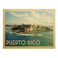 Puerto Rico Vintage Travel Postcard