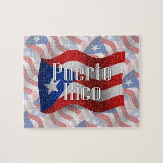 Puerto Rico Waving Flag Jigsaw Puzzle