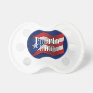 Puerto Rico Waving Flag Baby Pacifiers