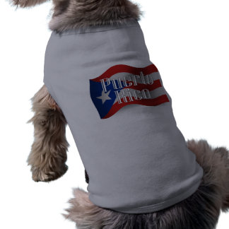 Puerto Rico Waving Flag Shirt