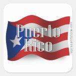 Puerto Rico Waving Flag Stickers