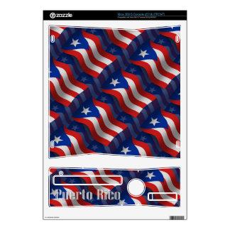 Puerto Rico Waving Flag Xbox 360 S Console Skin