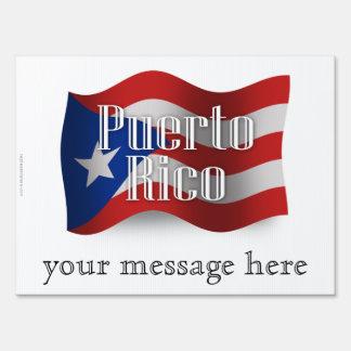 Puerto Rico Waving Flag Lawn Signs