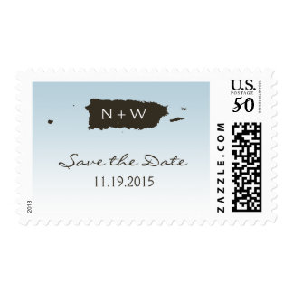 Puerto Rico Wedding: Blue Postage