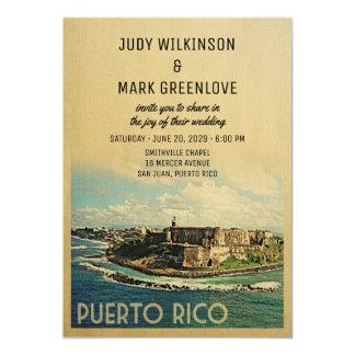 Puerto Rico Wedding Invitation Vintage Mid-Century