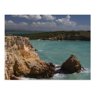 Puerto Rico, West Coast, Cabo Rojo, coastline 3 Postcard