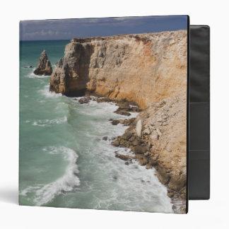 Puerto Rico, West Coast, Cabo Rojo, coastline Vinyl Binder