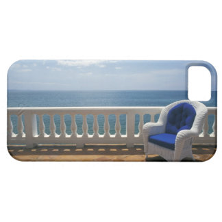 Puerto Rico. Wicker chair and tiled terrace at iPhone SE/5/5s Case