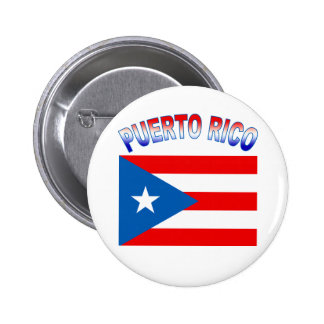 Puerto Rico with Flag Pins