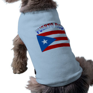 Puerto Rico with Flag Dog T-shirt