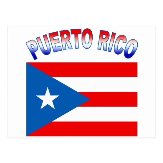 Puerto Rico with Flag Products Postcard