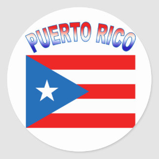 Puerto Rico with Flag Sticker