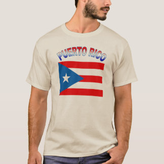 Puerto Rico with Flag T-Shirt
