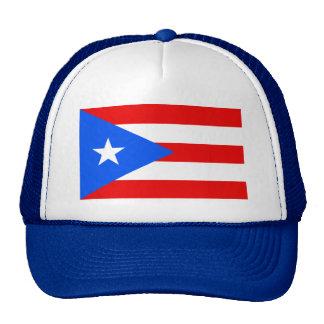 Puerto Rico World Flag Trucker Hats