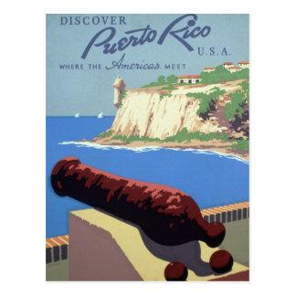 Puerto Rico WPA Tourism Travel Advertising Postcard