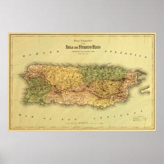 Puerto RicoPanoramic MapPuerto Rico Poster