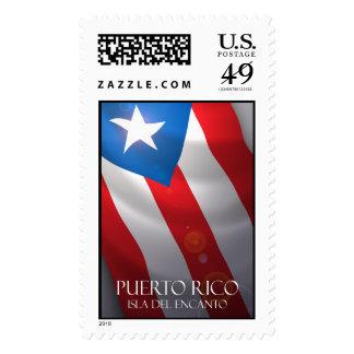 Puerto Rico's flag stamp