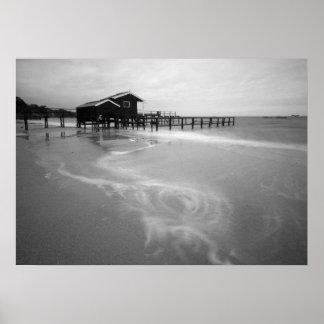 Puerto seguro - playa de Shelley Póster