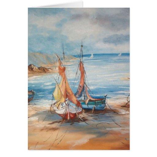 Puerto Tarjeta De Felicitación