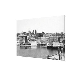Puerto Townsend, opinión Photograp de la ciudad de Impresión En Lona