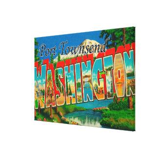 Puerto Townsend, Washington - escenas grandes de l Lona Envuelta Para Galerias