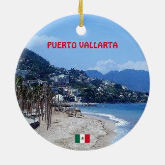 Puerto Vallarta Coffee Mug Ceramic Ornament