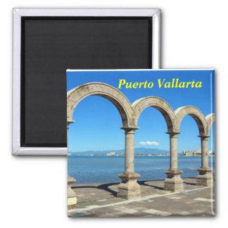 Puerto Vallarta Imán Cuadrado