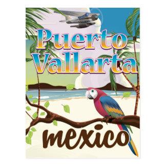 Puerto Vallarta Mexico beach travel poster Postcard