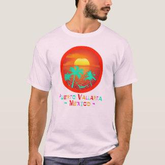 Puerto Vallarta, Mexico Circle Beach Sunset T-Shirt