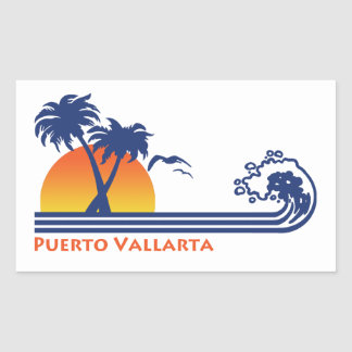 Puerto Vallarta Mexico Rectangular Sticker