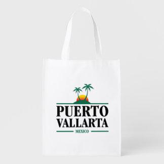 Puerto Vallarta Mexico Reusable Grocery Bag