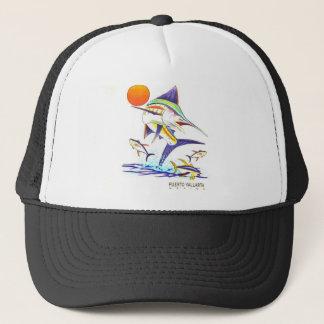 Puerto Vallarta Mexico Sailfish Mesh Trucker Hat