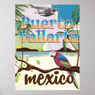 Puerto Vallarta Mexico travel poster
